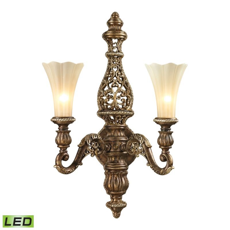 Elk Lighting 11551/2-LED Allesandria 2 Light LED Wall Sconce Burnt Sale $354.00 ITEM: bci2351553 ID#:11551/2-LED UPC: 748119072289 :
