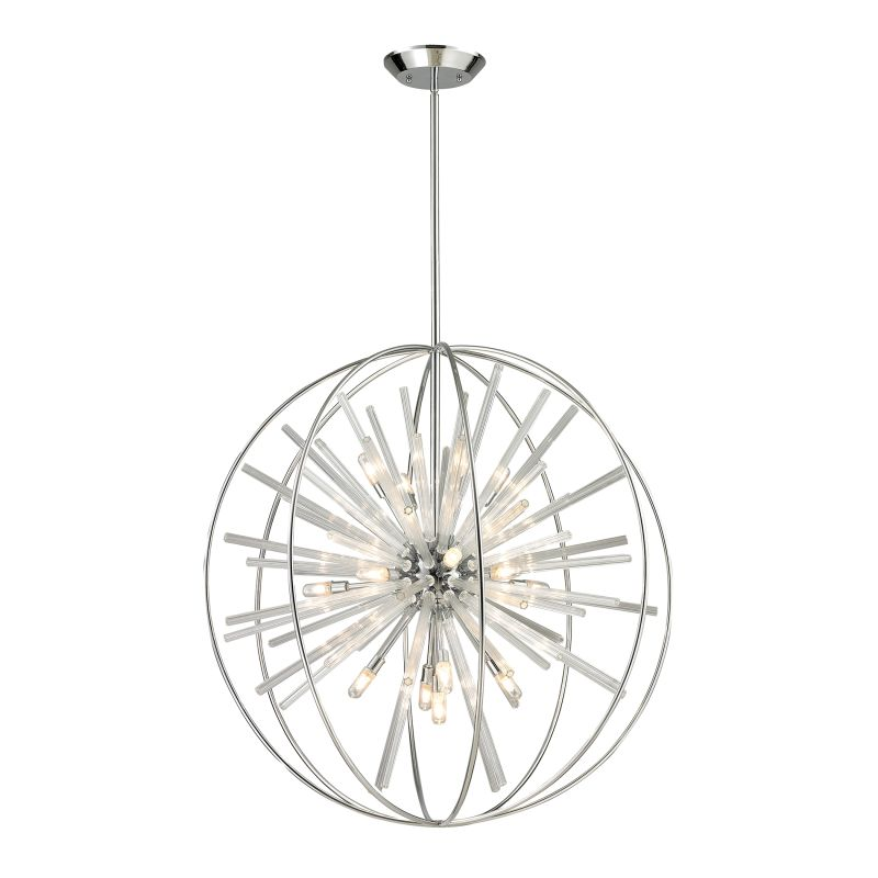 Elk Lighting 11563/15 Twilight 15 Light Large Pendant Polished Chrome