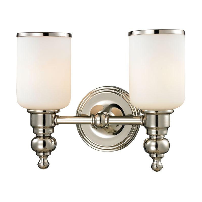 Elk lighting 11571 2 polished nickel bristol 2 light 13 for Elk bathroom lighting