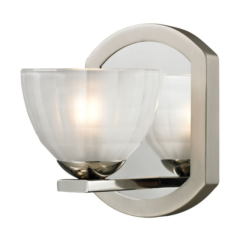 "Elk Lighting 11595/1 Sculptive 1 Light 7"" Bathroom Sconce with Clear"