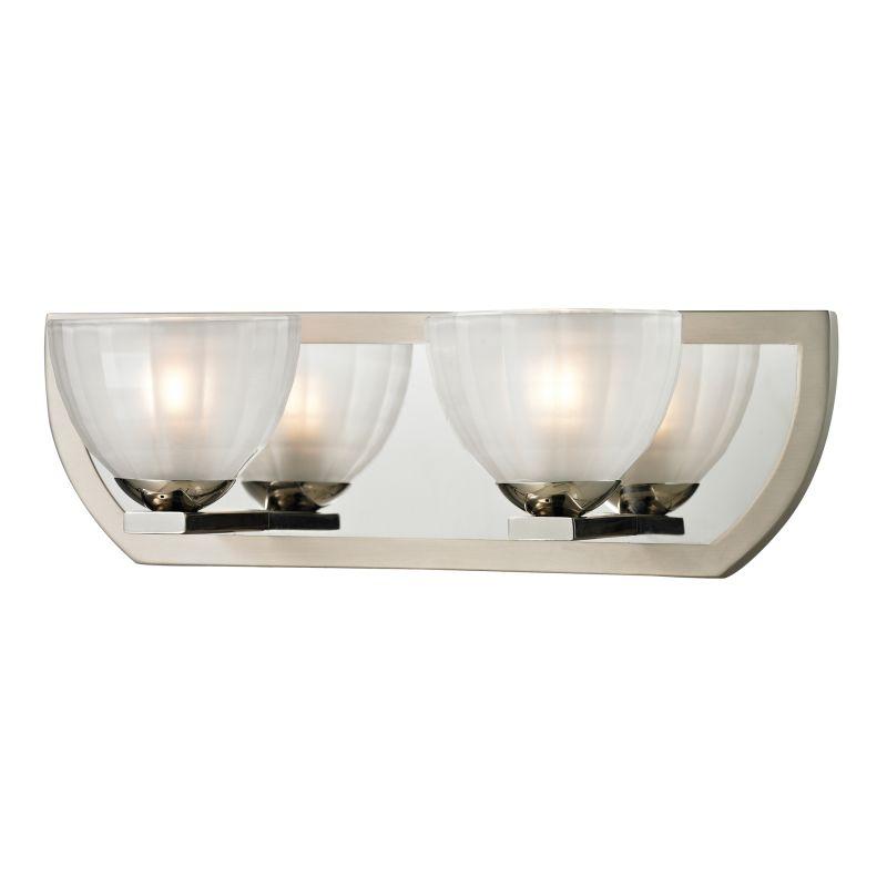 """Elk Lighting 11596/2 Sculptive 2 Light 15"""" Vanity Fixture with Clear"""