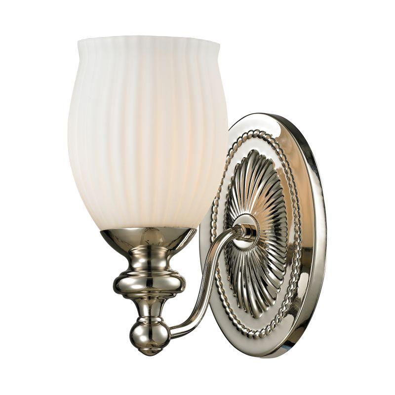 "Elk Lighting 11640/1 Park Ridge 1 Light 9"" Bathroom Sconce with Ribbed"