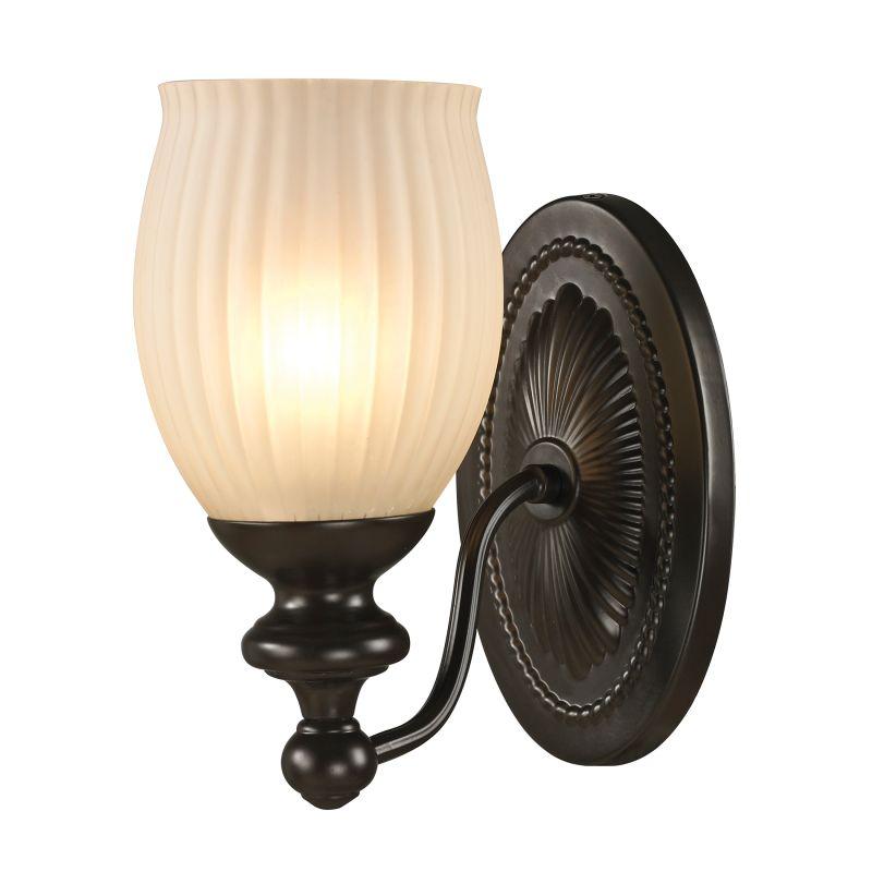 "Elk Lighting 11650/1 Park Ridge 1 Light 9"" Bathroom Sconce with Ribbed"