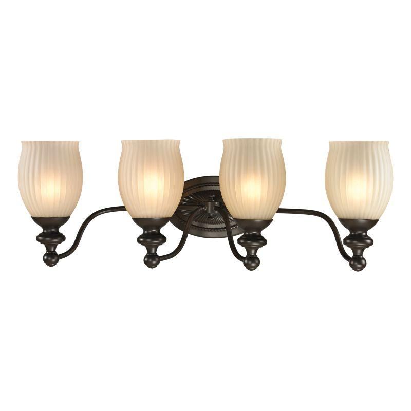 "Elk Lighting 11653/4 Park Ridge 4 Light 26"" Vanity Fixture with Ribbed"