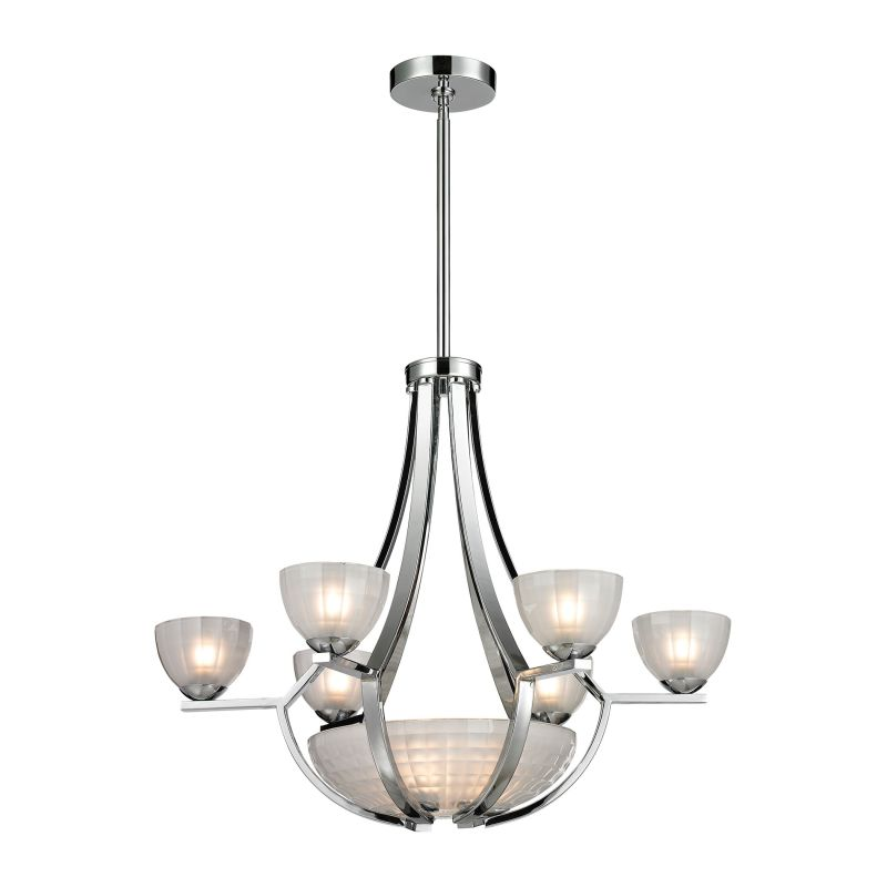 Elk Lighting 11764/6+3 9 Light 2 Tier Chandelier From The Sculptive