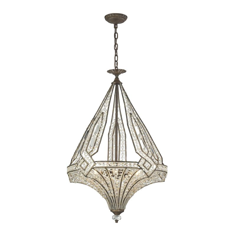 Elk Lighting 11783/5 Jausten 5 Light Chandelier Antique Bronze Indoor