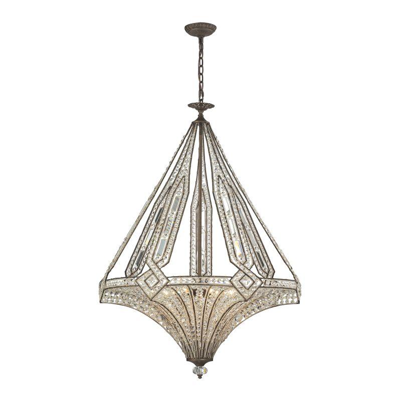 Elk Lighting 11784/7 Jausten 7 Light Chandelier Antique Bronze Indoor