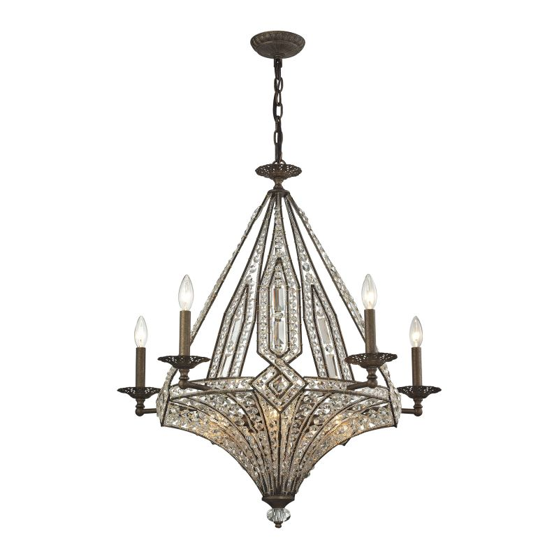 Elk Lighting 11785/5+5 10 Light 2 Tier Chandelier From The Jausten
