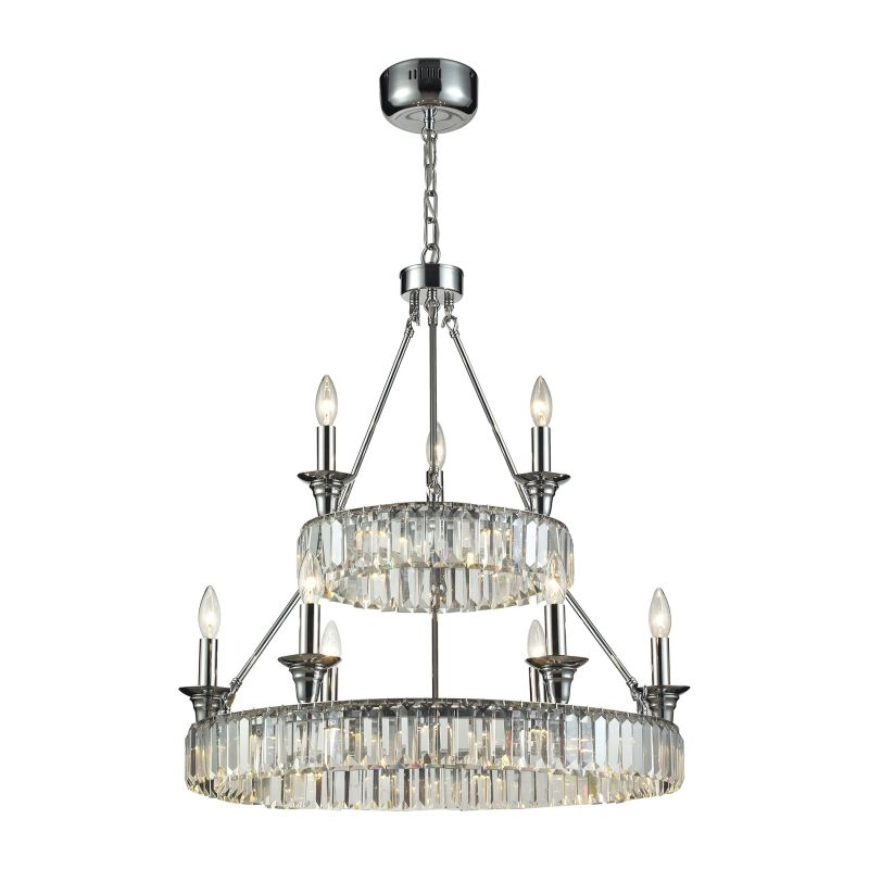 Elk Lighting 11806/20+6+3 9 Light 2 Tier Chandelier From The Manning