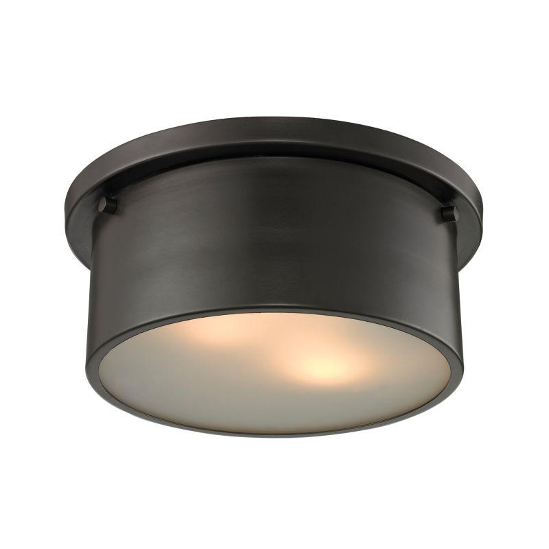Elk Lighting 11810/2 Simpson 2 Light Flush Mount Ceiling Fixture Oil