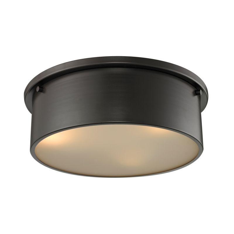 Elk Lighting 11811/3 Simpson 3 Light Flush Mount Ceiling Fixture Oil