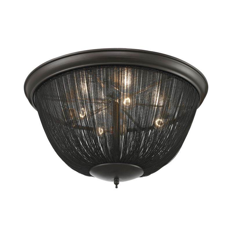 Elk Lighting 11826/4 Pesaro 4 Light Flush Mount Ceiling Fixture Oil