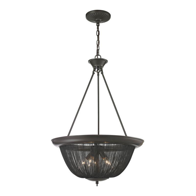 "Elk Lighting 11827/5 Pesaro 5 Light 21"" Wide Pendant with Round Canopy"