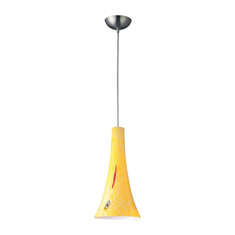 Elk Lighting 140-1-LED Tromba 1 Light LED Pendant Satin Nickel Indoor