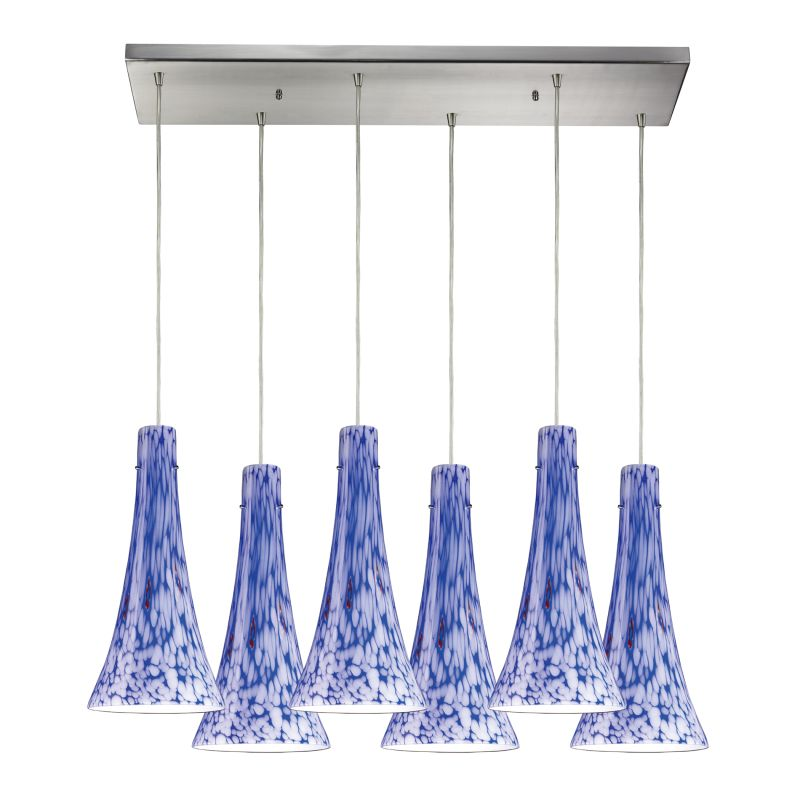 Elk Lighting 140-6RC Tromba 6 Light Pendant Starburst Blue Indoor