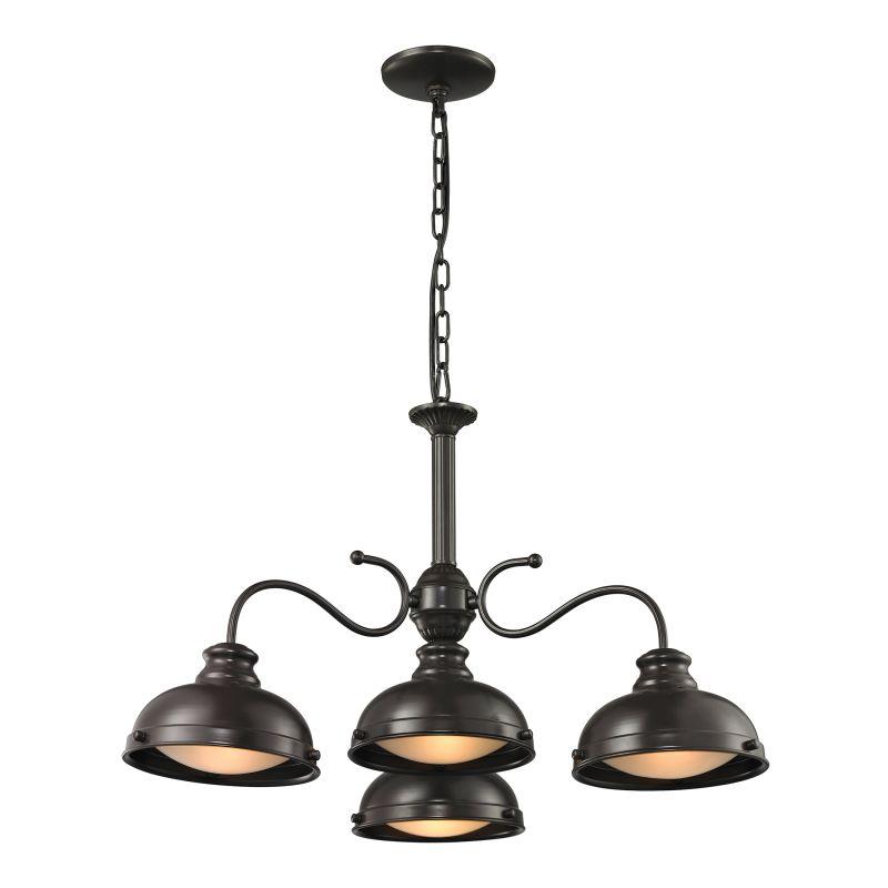Elk Lighting 14209/4 Henninger 4 Light Bowl Shaped Chandelier Oil