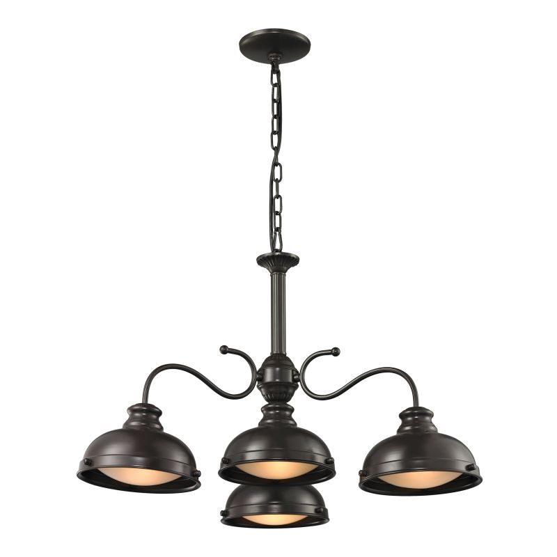 Elk Lighting 14209/4 Henninger 4 Light Bowl Shaped Chandelier Oil Sale $394.00 ITEM: bci2346819 ID#:14209/4 UPC: 748119070001 :
