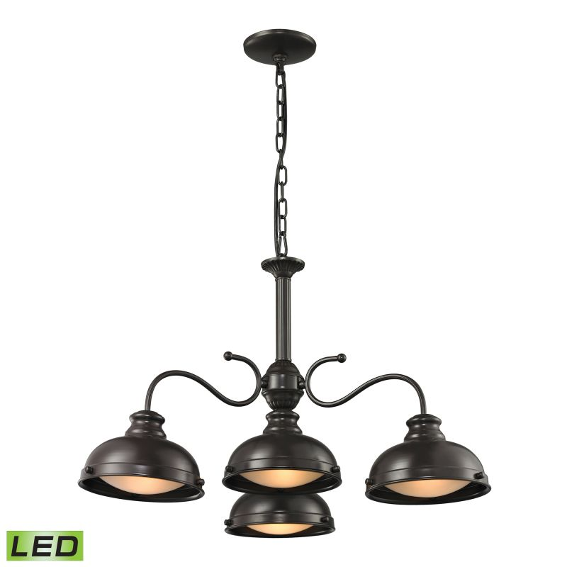 Elk Lighting 14209/4-LED Henninger 4 Light LED Bowl Shaped Chandelier