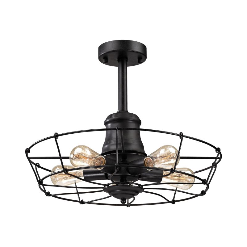 Elk Lighting 14259/5 Glendora 5 Light Semi-Flush Ceiling Fixture Sale $298.00 ITEM: bci2614662 ID#:14259/5 UPC: 748119087764 :