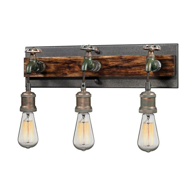 Elk Lighting 14282/3 Jonas 3 Light Wall Sconce Multi-tone Weathered Sale $318.00 ITEM: bci2614672 ID#:14282/3 UPC: 748119087863 :