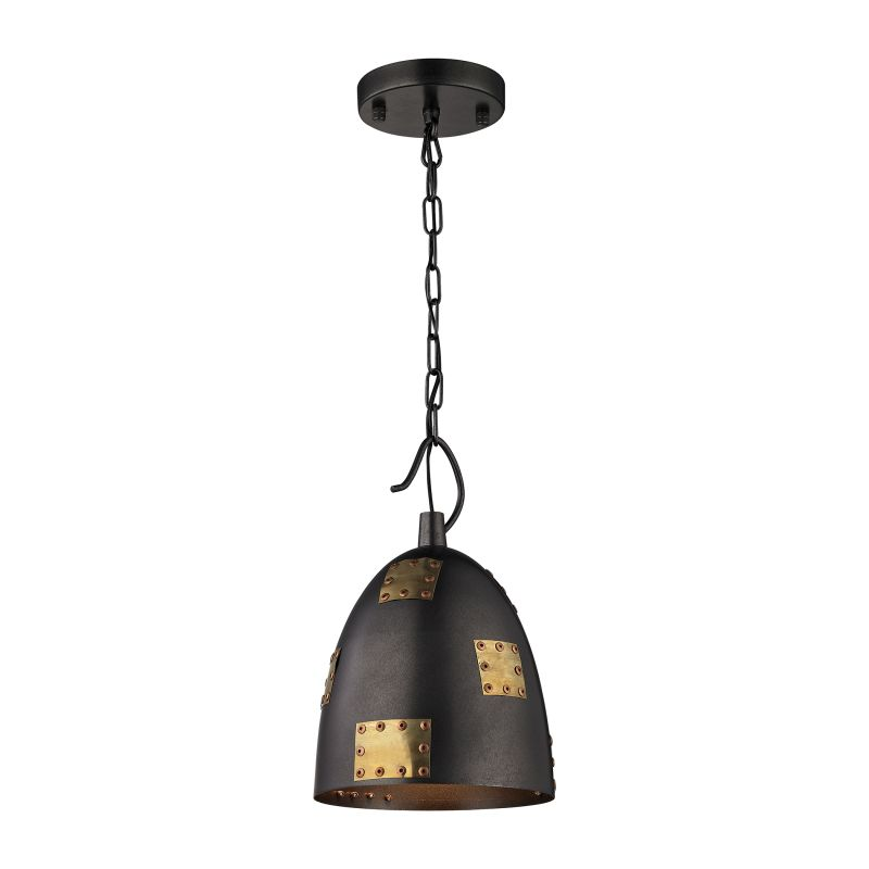 "Elk Lighting 14290/1 Strasburg Single Light 8"" Wide Mini Pendant with"