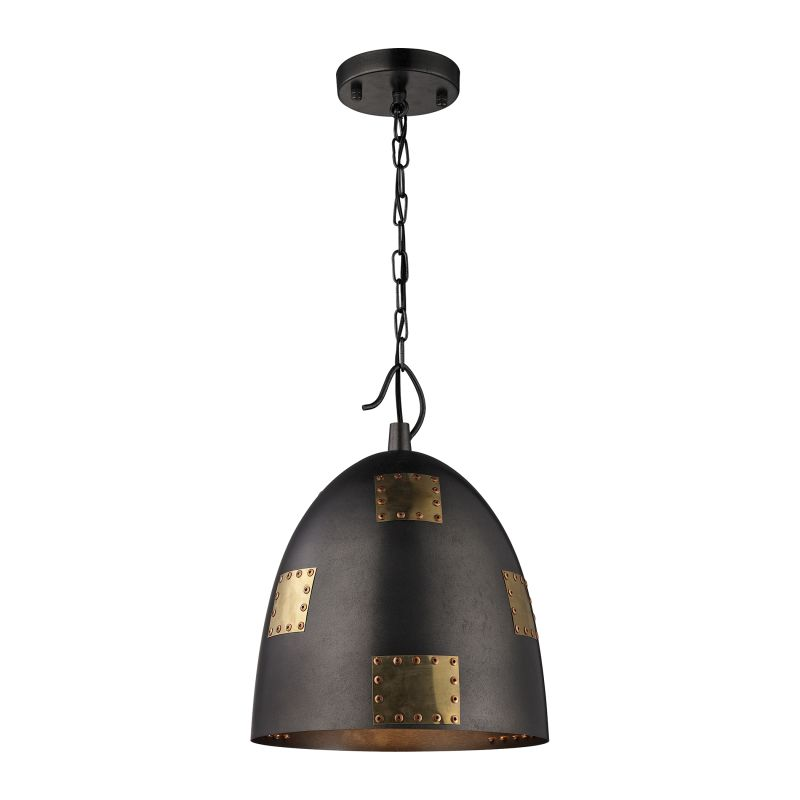 "Elk Lighting 14291/1 Strasburg Single Light 12"" Wide Pendant with"