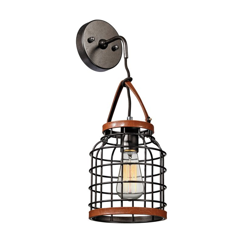 Elk Lighting 14305/1 Purcell 1 Light Wall Sconce Weathered Iron Indoor