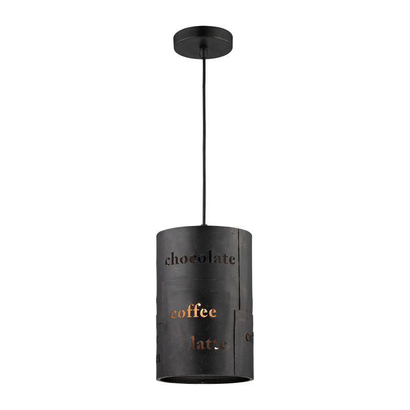 "Elk Lighting 14311/1 Cafe Single Light 7"" Wide Mini Pendant with Round"