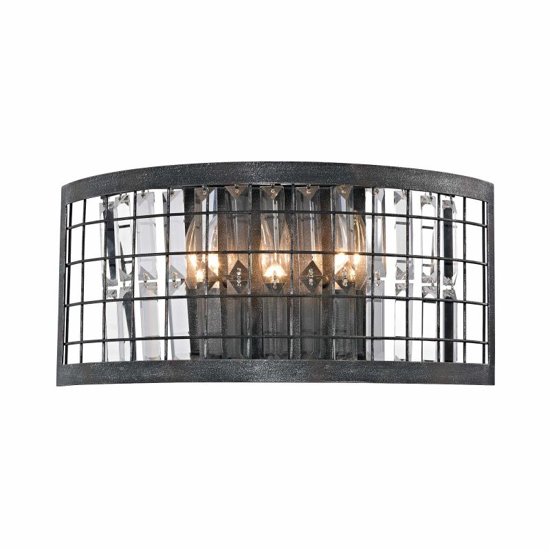Elk Lighting 14340/3 3 Light Wall Sconce with Crystal Shades from the