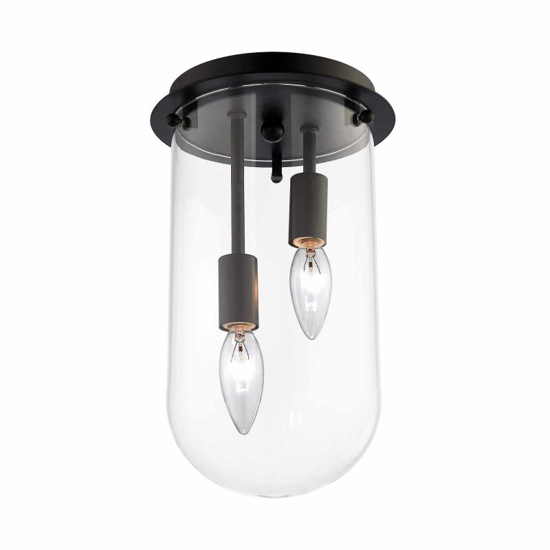 Elk Lighting 14371/2 2 Light Flush Mount Ceiling Fixture with Clear Sale $158.00 ITEM: bci2882881 ID#:14371/2 UPC: 748119100319 :