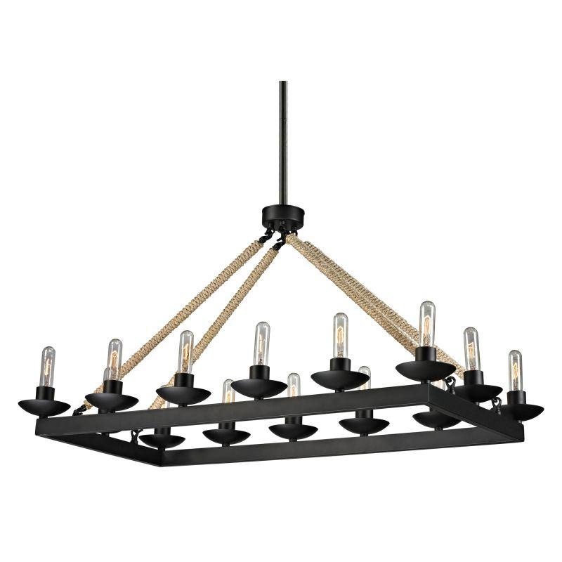 Elk Lighting 15904/14 Pearce 14 Light 1 Tier Chandelier Matte Black Sale $676.00 ITEM: bci2346833 ID#:15904/14 UPC: 748119070438 :