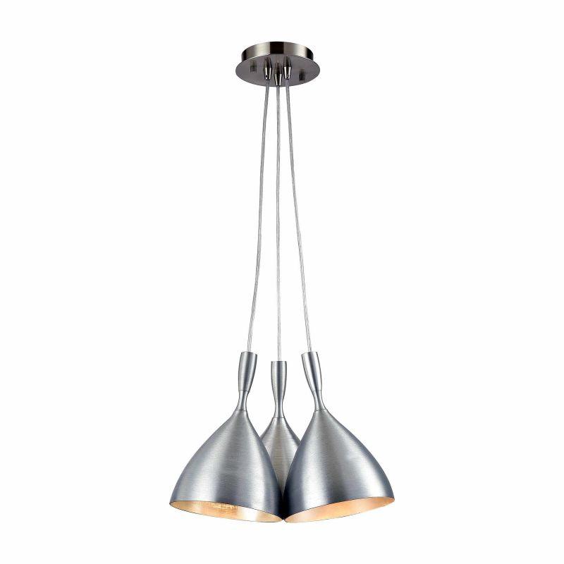 """Elk Lighting 17042/3SR Spun Aluminum 3 Light 15"""" Wide Multi Light"""