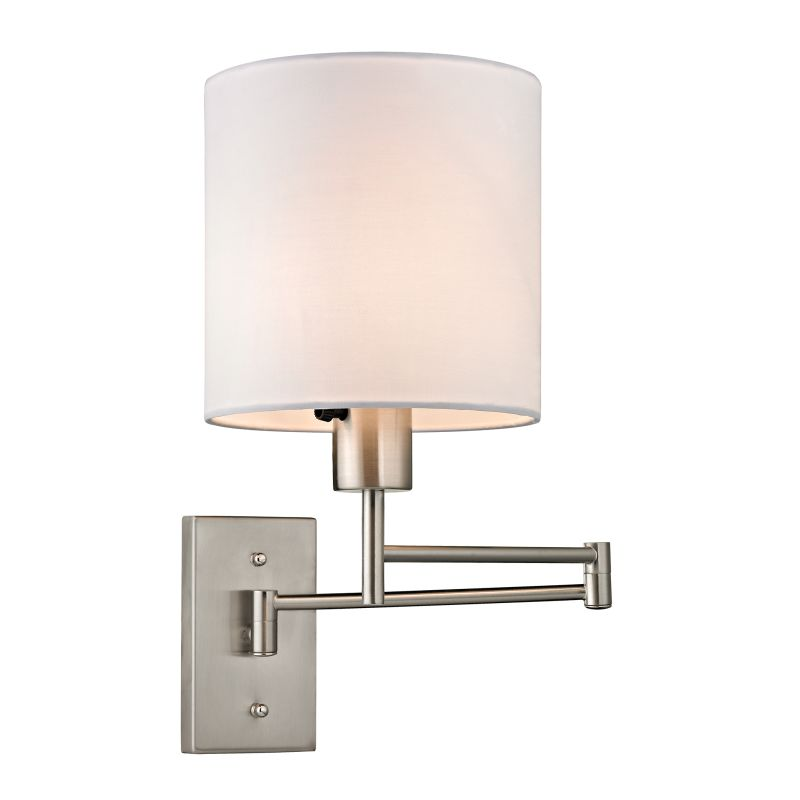 Elk Lighting 17150/1 Carson 1 Light Swing Arm Wall Sconce Brushed Sale $126.00 ITEM: bci2351679 ID#:17150/1 UPC: 748119071121 :