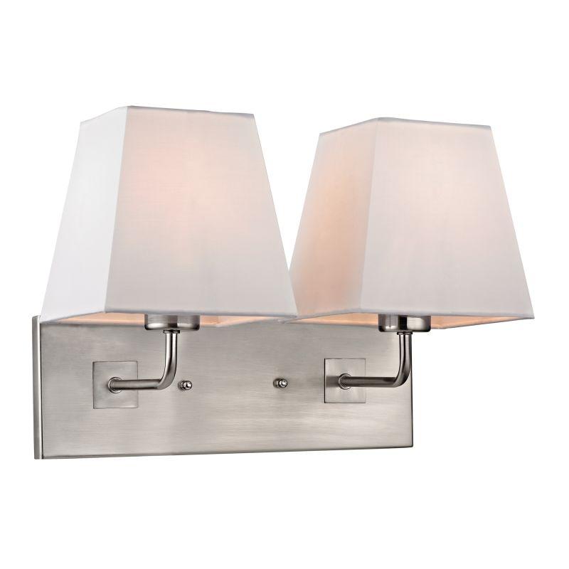 Elk Lighting 17161/2 Beverly 2 Light Wall Sconce Brushed Nickel Indoor
