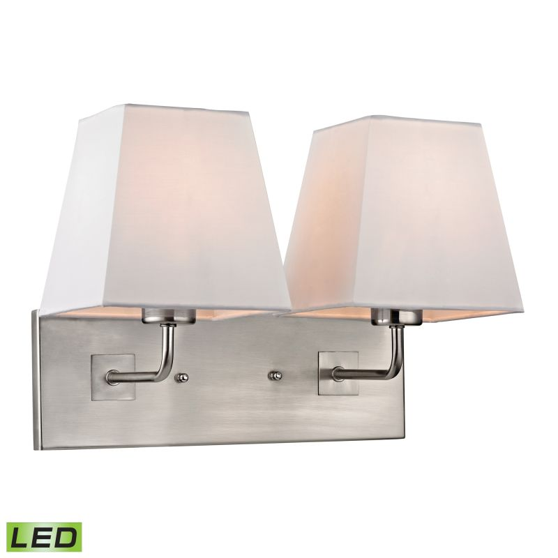 Elk Lighting 17161/2-LED Beverly 2 Light LED Wall Sconce Brushed