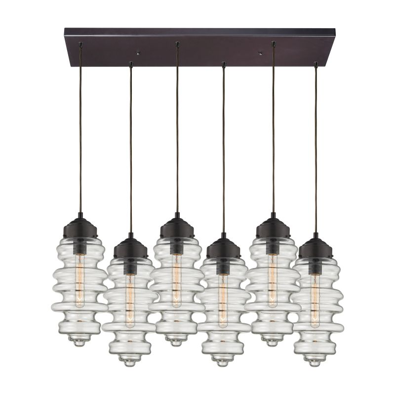 "Elk Lighting 17205/6RC Cipher 6 Light 30"" Wide Multi Light Pendant"