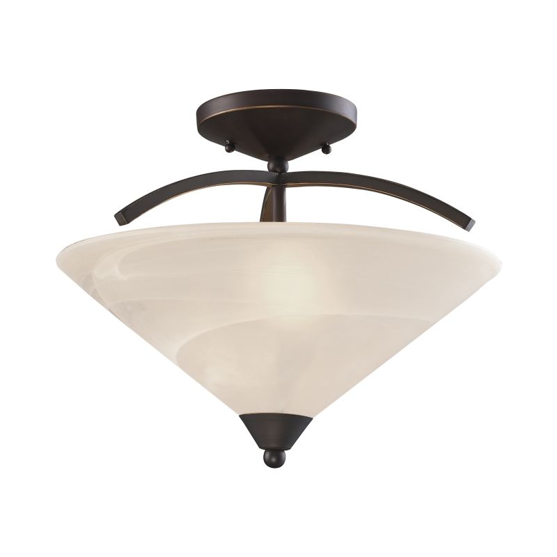 Elk Lighting 1743/2 2 Light Semi-Flush Ceiling Fixture Oil Rubbed Sale $138.00 ITEM: bci2614738 ID#:1743/2 UPC: 748119092287 :