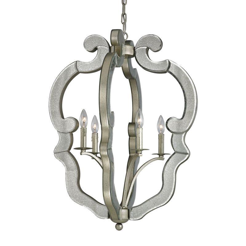 Elk Lighting 19102/4 Mariana 4 Light Large Pendant Speckled Silver