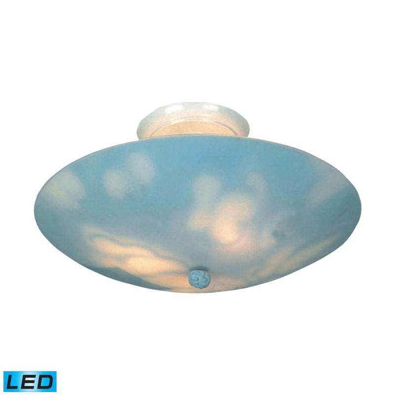 Elk Lighting 202-CL-LED 3 Light LED Semi Flush Ceiling Fixture From Sale $194.00 ITEM: bci2952911 ID#:202-CL-LED UPC: 830335018629 :
