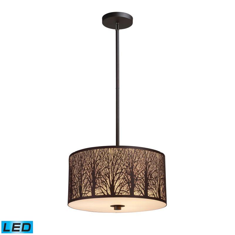 "Elk Lighting 31074/3-LED Woodland Sunrise 3 Light 16"" Wide LED Pendant"