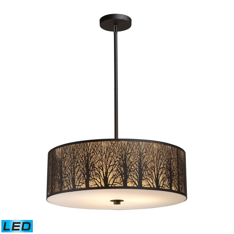 Elk Lighting 31075/5-LED Woodland Sunrise 5 Light LED Pendant Aged