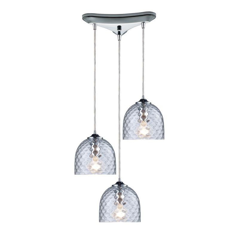 """Elk Lighting 31080/3 Viva 3 Light 10"""" Wide Multi Light Pendant with"""