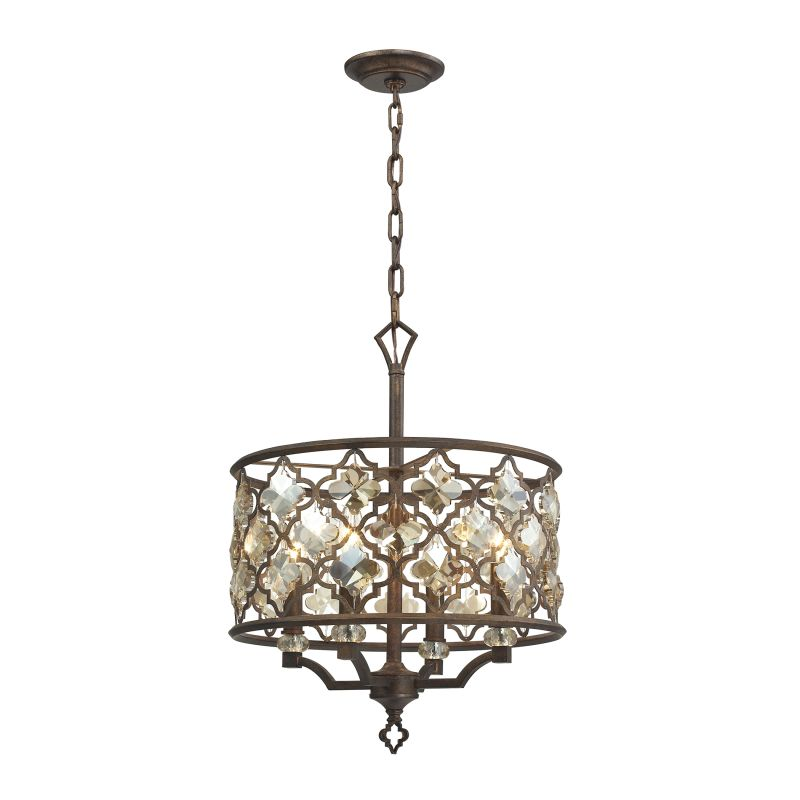 """Elk Lighting 31096/4 Armand 4 Light 17"""" Wide Pendant with Round Canopy"""