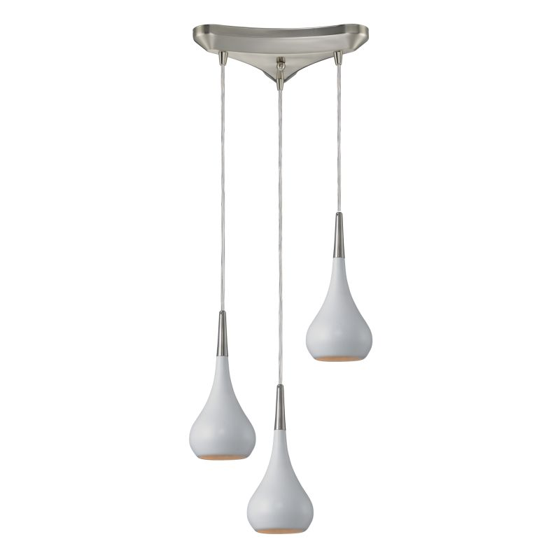 "Elk Lighting 31340/3 Lindsey 3 Light 10"" Wide Mini Pendant with"