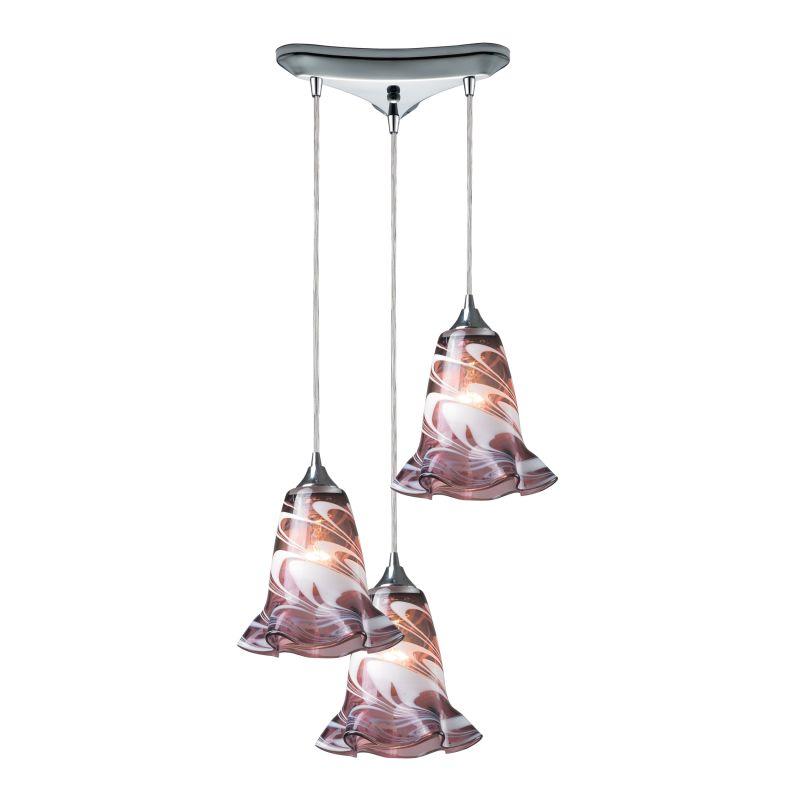 Elk Lighting 31342/3 Vestido 3 Light Pendant Polished Chrome Indoor