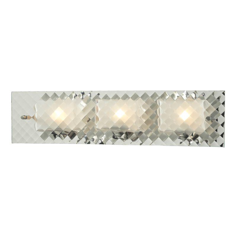 "Elk Lighting 31416/3 Talmage 3 Light 21"" Vanity Fixture with Patterned"