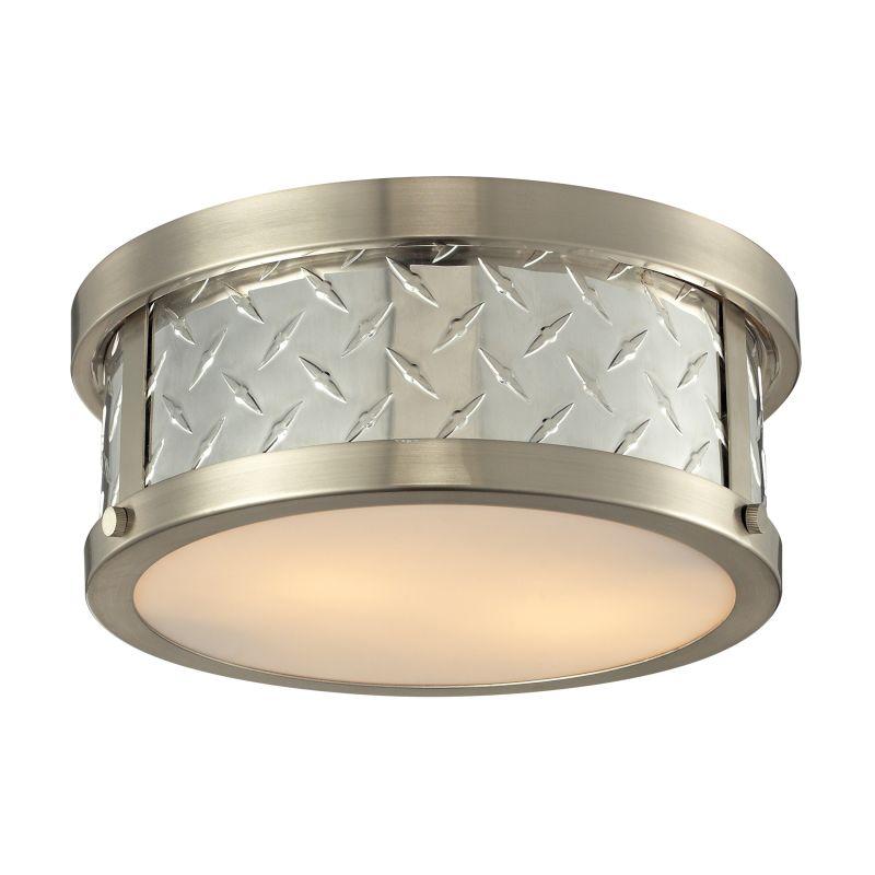 Elk Lighting 31421/2 Diamond Plate 2 Light Flush Mount Ceiling Fixture