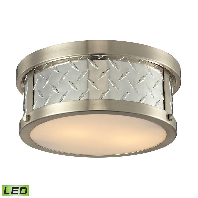 Elk Lighting 31421/2-LED Diamond Plate 2 Light LED Flush Mount Ceiling