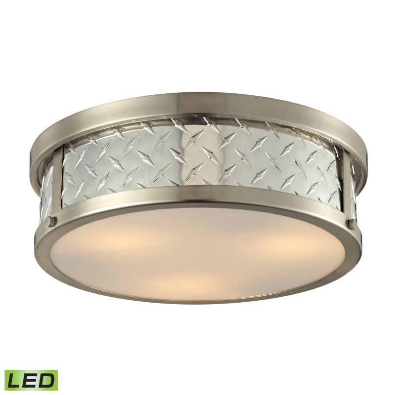 Elk Lighting 31422/3-LED Diamond Plate 3 Light LED Flush Mount Ceiling