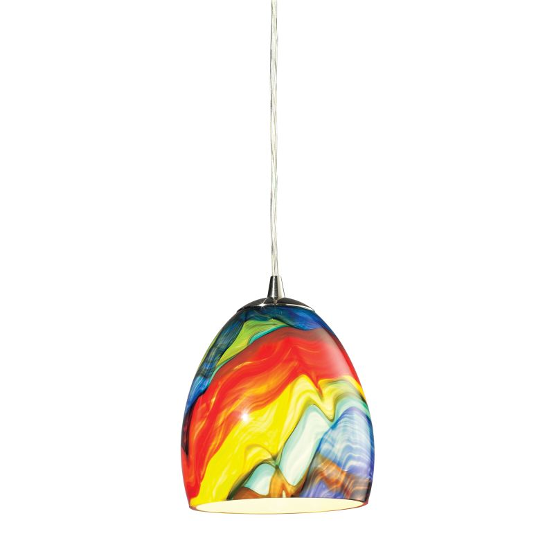 "Elk Lighting 31445/1RB Colorwave Single Light 6"" Wide Mini Pendant"